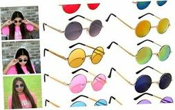 10 Pack Round Retro Vintage Circle Style Sunglasses Colored