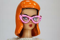 Barbie & Pals Vintage Style RESIN WIG & Sunglasses SET by RE