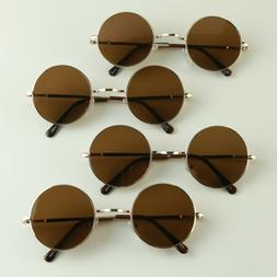 Groovy 80s 12 Pack Wholesale Party Lennon Style Brown Round