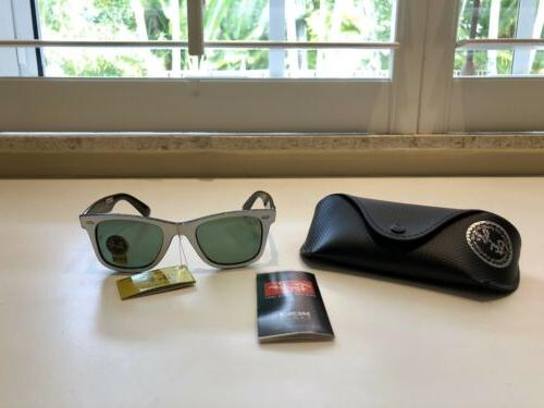 nwts authentic white ray ban rb2140 wayfarer