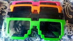 NEW 4 PACK MINECRAFT SUNGLASSE RETRO FOR GIRL OR BOY GREEN Z