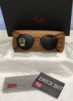 Ray-Ban Round Metal Black/G-15 Model RB3447 Size&Color 002/6
