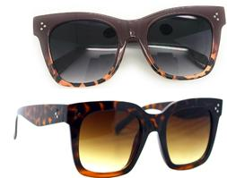 Retro Oversized Square Sunglasses for Women with Flat Lens 5