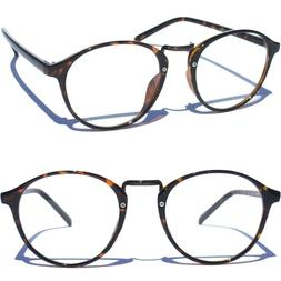 RETRO VINTAGE DESIGN Clear Lens Eye Glasses Fashion with Met