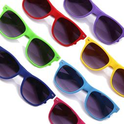 Rubber Coated Sunglasses 2 Pack Matte Horn Rimmed Retro Colo