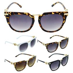 KATURE WOMENS SQUARE HORN RIMMED SUNGLASSES OVERSIZED CAT EY